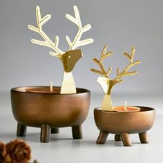 Product Image of Deer Pals Tealight Candle Holder Pair Tea Light Candles, Tea Lights, Unique Graduation Gifts, Unique Gifts, Best Gifts, Christmas Gifts, Christmas Decorations, Tealight Candle Holders, Deer