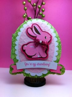 Jinger Adams Design Team Call - Easter Magic Cricut Bunny Card