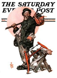 Who, Me Work? by J. C. Leyendecker, January 23, 1926, The Saturday Evening Post.