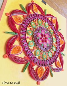 Paper Quilled Mandala by Time2Quill on Etsy