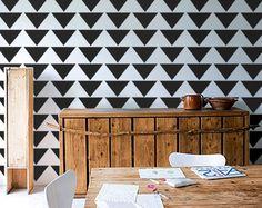 triangle wall stencils