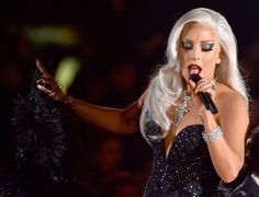Lady Gaga performs on the 57th Annual GRAMMY Awards on Feb. 8 in Los Angeles