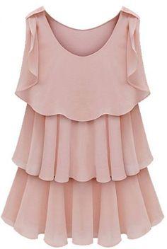 Shop Pink Sleeveless Tired Ruffle Chiffon Blouse online. SheIn offers Pink Sleeveless Tired Ruffle Chiffon Blouse & more to fit your fashionable needs.
