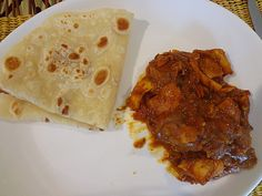 Farata - it's pancake, and it's bread! A delicious compliment to spicy Mauritian food.