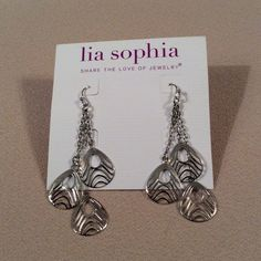SALE NWT Silver dangly earrings LIA SOPHIA BY DEFAULT DOES NOT TAG ALL OF THEIR JEWELRY PIECES. eronfvyu Lia Sophia Jewelry Earrings