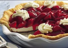 Black Bottom Strawberry Cream Pie....awesome!!!  This one is simple & delicious!!  http://FourSeasonGourmet.com/black-bottom-strawberry-cream-pie/