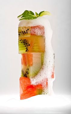kiwi + watermelon: great idea for Memorial Day or any BBQ | lovely molecular gastronomy photo