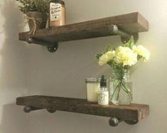 Rustic wood blanket ladder rustic ladder by PipeAndWoodDesigns