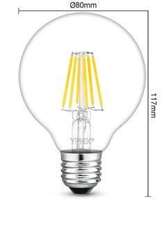Cool Dimbare filament E LED lamp Atlas Watt vervangt W gloeilamp