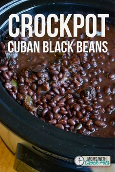 These are the best black beans ever! You have to try this easy Crockpot Cuban Black Beans Recipe! Great with rice, in wraps, as a side and more.: