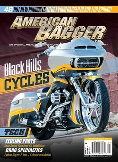 May 2016. Our May issue contains five classy Baggers including Billy Jarrell's Road Glide Custom and Steve Da K's FatBoy Bagger, both built by Black Hills Cycles.For event coverage we have the Timonium Motorcycle Show!. Tech Stories include Feuling, Baggers Inc, Drag Specialties Python exhaust, Klock Werks Vent Screen and Accutronix Grips. Buyers Guides include Motors and Hop Ups, and as always New Products for the latest of the industry!