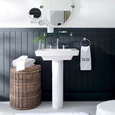 60 Fantastic Farmhouse Bathroom Vanity Decor Ideas And Remodel. If you are looking for 60 Fantastic Farmhouse Bathroom Vanity Decor Ideas And Remodel, You come to the right place. Pedestal Sink Bathroom, Bathroom Vanity Decor, White Bathroom, Bathroom Storage, Modern Bathroom, Bathroom Ideas, Bathroom Faucets, Neutral Bathroom, Modern Vanity