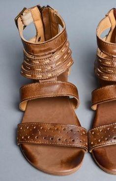BedStu Artemis Leather Sandal ~ Tan Rustic