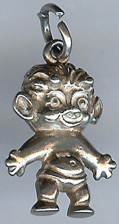 ADORABLE VINTAGE STERLING SILVER 3D TROLL DOLL CHARM