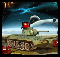 Russian tank in the Space by KaliningradGeneral on DeviantArt Communism, Socialism, Fnaf Baby, Funny Tanks, T 34, Circus Baby, Alternate History, Fun Comics, Soviet Union
