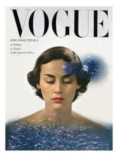 Vogue, January 1948. Photographed by Herbert Matter.