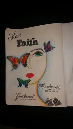 front in my bible #bibleartjournaling #illustratedfaith #faith