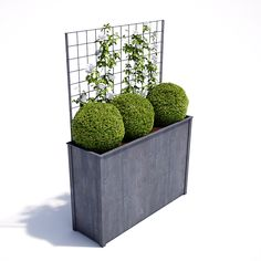 Garden Planters in zinc galvanized steel. High quality bespoke steel planters in square and trough designs. Large, heavy duty planters for exterior use. Planters For Shade, Balcony Planters, Trough Planters, Tall Planter Boxes, Tall Planters, Square Planters, Metal Trellis, Garden Trellis, Trellis Panels