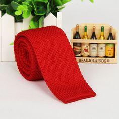 Mantieqingway Fashion Burgundy Neck Tie Wedding Knitted Ties for Men Skinny Ties Man Gravata Polyester Narrow Knitted Neckties