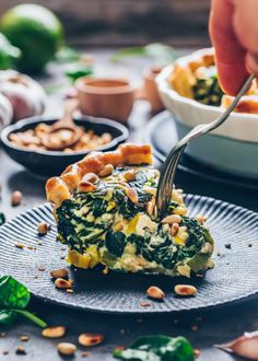 This vegan spinach quiche is creamy, cheesy & delicious! It's an easy vegan quiche recipe baked in homemade pie crust. Perfect for breakfast, brunch & lunch Vegan Feta Cheese, Vegan Quiche, Gourmet Recipes, Vegetarian Recipes, Healthy Recipes, Vegan Brunch Recipes, Pie Recipes, Savory Breakfast, Breakfast Recipes