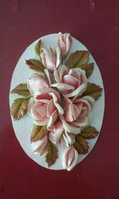 art by nilgün - cold porcelain MAGNET Cold Porcelain Flowers, Porcelain Clay, Ceramic Flowers, Plaster Crafts, Plaster Art, Jute Crafts, Clay Crafts, Italian Flowers, Lotus Painting