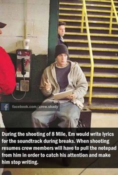 EMINƎM. If you aren't this passionate about your music you have two options, 1) be more passionate. 2) find a different hobby