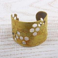 Honeycomb Hand Enamel - Bracelet