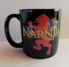 Disney-Narnia-Coffee-Mug-Cup-Vtg-Oversized-Large-Soup-16-oz-Collectible-Black