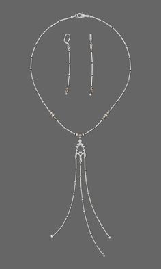 Jewelry Design - Single-Strand Necklace and Earring Set with Swarovski® Crystals and Silver-Plated Brass Beads and Drop - Fire Mountain Gems and Beads