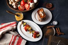 Signature Sides | grilled vegetable skewer and sweet potato at Logan's Roadhouse
