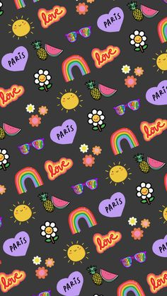 Witchy Wallpaper, Hippie Wallpaper, Cute Pastel Wallpaper, Aesthetic Desktop Wallpaper, Cute Patterns Wallpaper, Cute Wallpaper Backgrounds, Pretty Wallpapers, Wallpaper Wallpapers, Butterfly Wallpaper Iphone