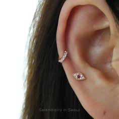 CZ huggie hoop for upper ear cartilage piercing Inner Ear Piercing, Ear Piercings, Mid Cartilage Piercing, Double Cartilage, Peircings, Emerald Earrings, Bridal Earrings, Cartilage Earrings, Stud Earrings