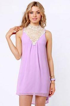 Yore's Truly Cream and Lavender Lace Dress  - (I would wear this as a top not a dress!)