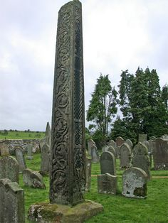 Bewcastle Cross, Cumbria. Now no more than a farm, church and rectory lying within the walls of a Roman fort, yet Bewcastle has this wonderful early cross. The cross head has been lost, but the shaft depicts carvings of Christian significance. You can still see Viking runes cut into the shaft and there is reference to Kynnniburga, the wife of King Aldfrith who reigned in Northumbria from 685 to 704. Nearest town is Carlisle.