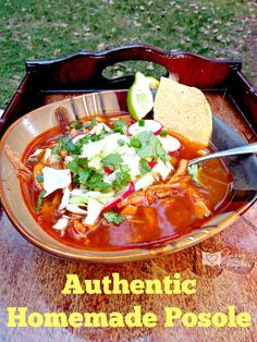 This is the real deal people! True authentic homemade posole.