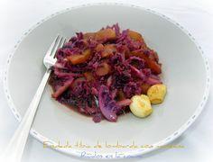 Mis Recetas Anticáncer: Ensalada tibia de col lombarda con manzana.