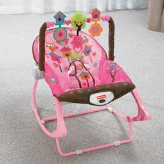 A Cadeirinha Infância Sonho Rosa da Fisher-Price é o produto perfeito para usar conforme o bebê cresce - uma cadeirinha de balanço com apoio dobrável que é facilmente convertida em um assento fixo para alimentação ou sono. Tudo isto com detalhes rosa super charmosos. Ela também pode ser usada como cadeira de balanço por bebês maiores - até alcançarem um peso de 18 kg! Há uma barra com 3 brinquedos giratórios divertidos. A barra é facilmente removida para ter acesso ao bebê.