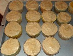 Yellow banana cupcakes with a cinnamon n sugar cream cheese frosting :)