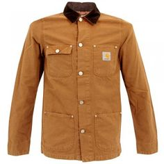 Carhartt Michigan Brown Stone Wahsed Jacket I014582 50