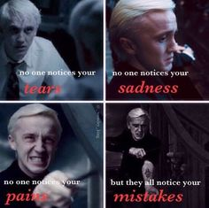 Draco Malfoy. Too perfect. My absolute favorite Harry Potter character, the one who's constantly misunderstood.: