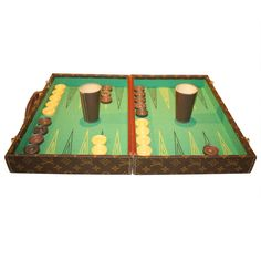 Rare  Louis Vuitton Backgammon Set   From a unique collection of antique and modern games at https://www.1stdibs.com/furniture/more-furniture-collectibles/games/