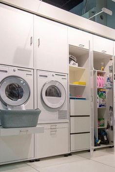 Happy New Home, Laundry Room Inspiration, House Inside, Laundry Room Design, Home Organization, New Homes, House Design, House Styles, Closet