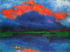 "Emil Nolde ""Evening Sky""...I would totally paint something like this...Beautiful"