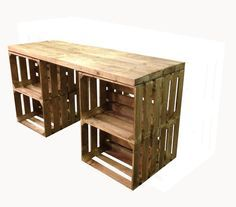 Apple Crate Desk; would be great for my art studio in the garage.