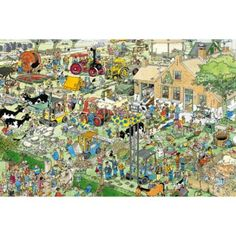 Puzzle 3000 pièces - Jan Van Haasteren : La ferme - Jumbo-17078