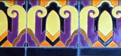 architecture detail, art deco tile - Hobbies paining body for kids and adult