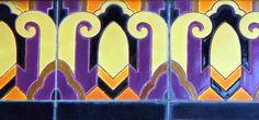 architecture detail, art deco tile - Hobbies paining body for kids and adult Art Deco Bathroom, Art Nouveau Tiles, Clay Tiles, Mosaic Tiles, Craftsman Tile, La Art, Vintage Tile, Mosaic Projects, Art Deco Period