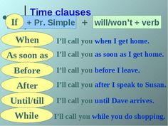 #TimeClauses #conditionals #verbs #ELT #grammar: