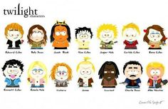 South Park Twilight Characters - The Cullens and Hales Photo ...