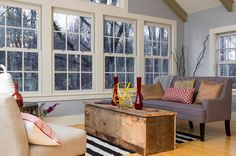 Farmhouse Living Room by New England Design Elements